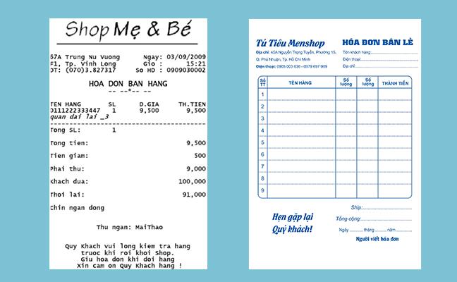 Xu hướng sử dụng hóa đơn bán lẻ tại các shop thời trang