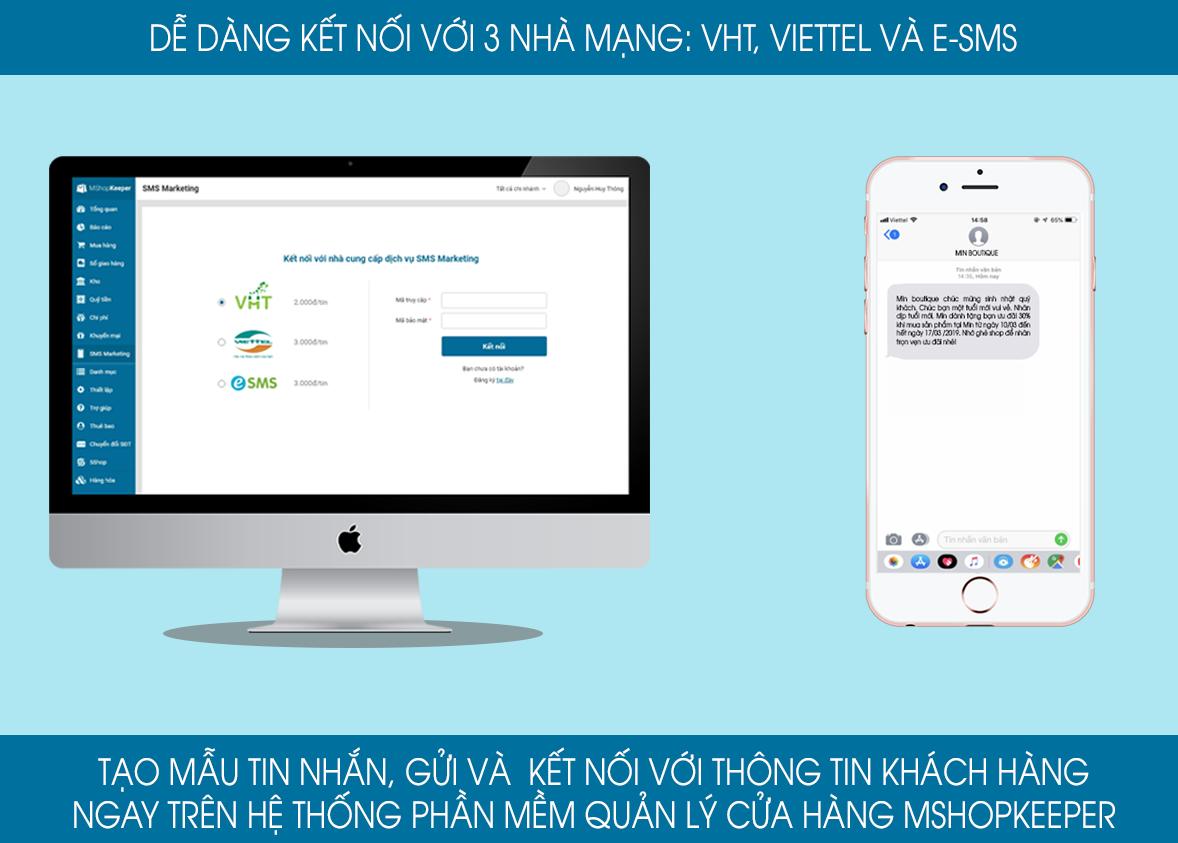 Gửi Sms marketing dễ dàng trên phầm mềm MISA eShop