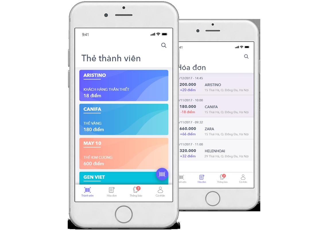ứng dụng 5Shop được tích hợp trên MISA eShop