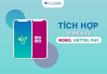 Thanh toán ngày càng tiện khi MShopKeeper tích hợp ví điện tử Momo, Viettel Pay