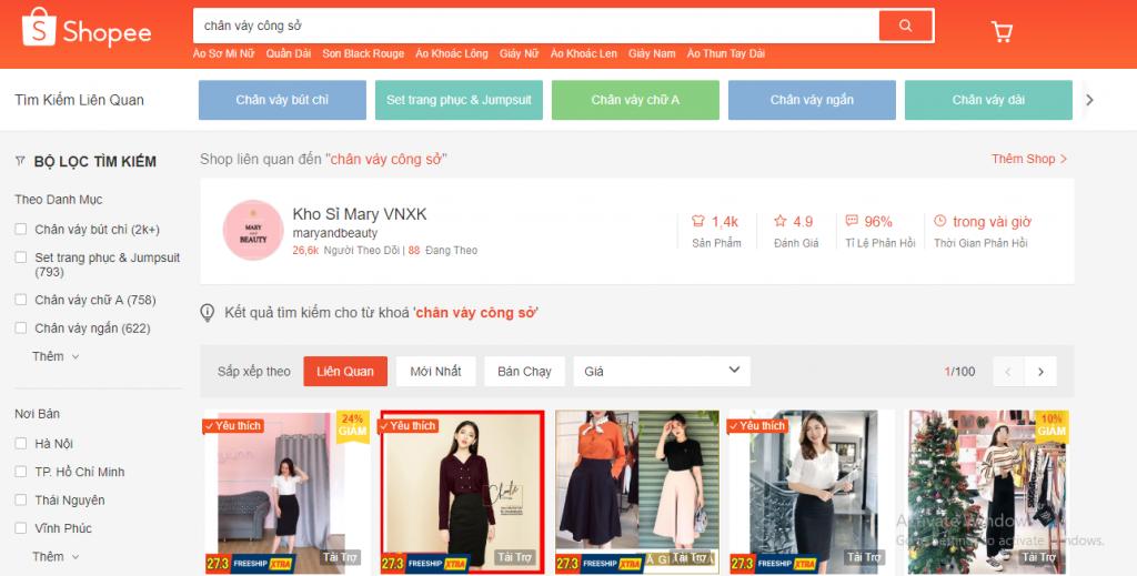 đăng ký kinh doanh online trên Shopee