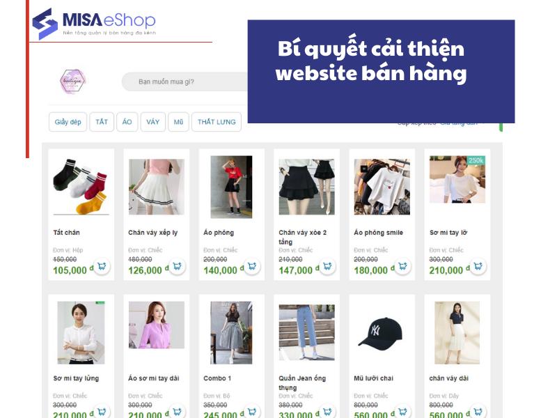 cải thiện website bán hàng