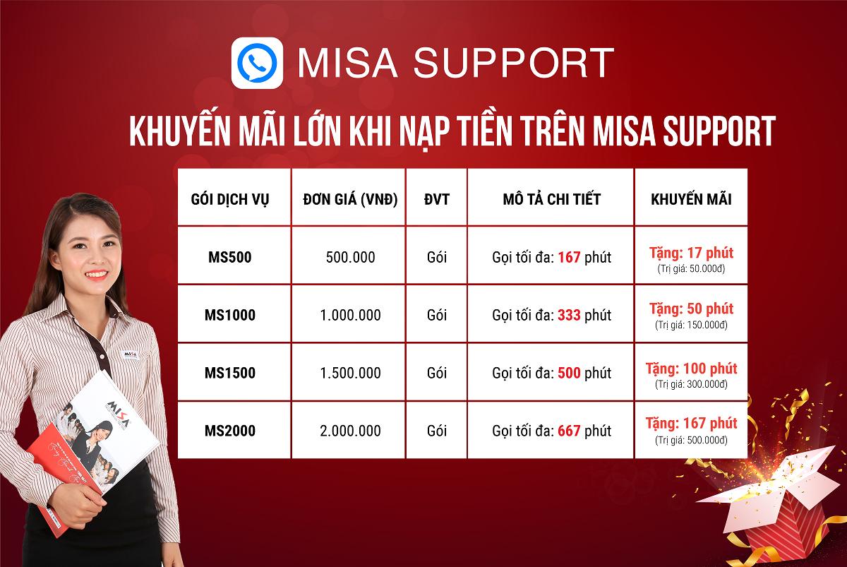 kênh hỗ trợ MISA Support