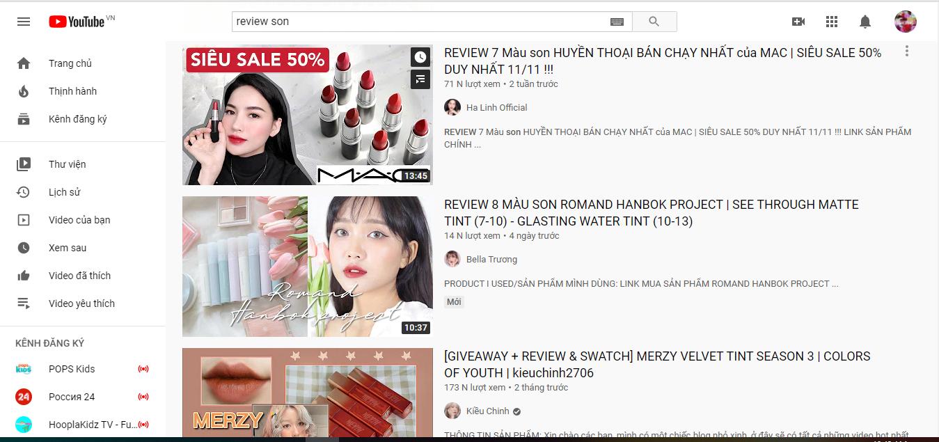 thu hút khách hàng mục tiêu trên YouTube