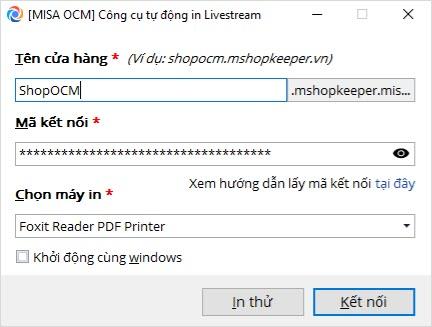 phần mềm tự động in bình luận livestream