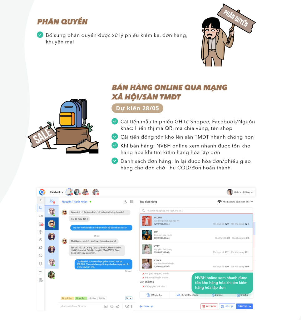 MISA eShop cập nhật